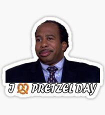 Pretzel Day Sticker