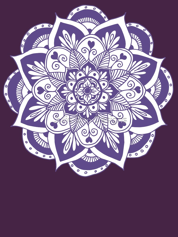 Ultraviolet Flower Mandala by julieerindesign