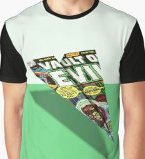 No Man Escapes Alive Comic Book Cover Paper Airplane Graphic T-Shirt