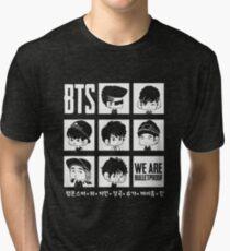 BTS WE ARE BULLETPROOF Chibi Tri-blend T-Shirt