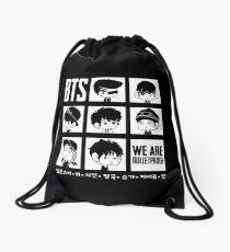 BTS WE ARE BULLETPROOF Chibi Drawstring Bag