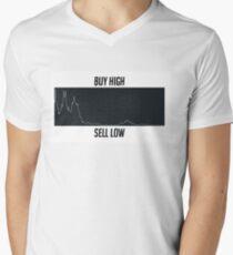 BUY HIGH SELL LOW $JNUG V-Neck T-Shirt