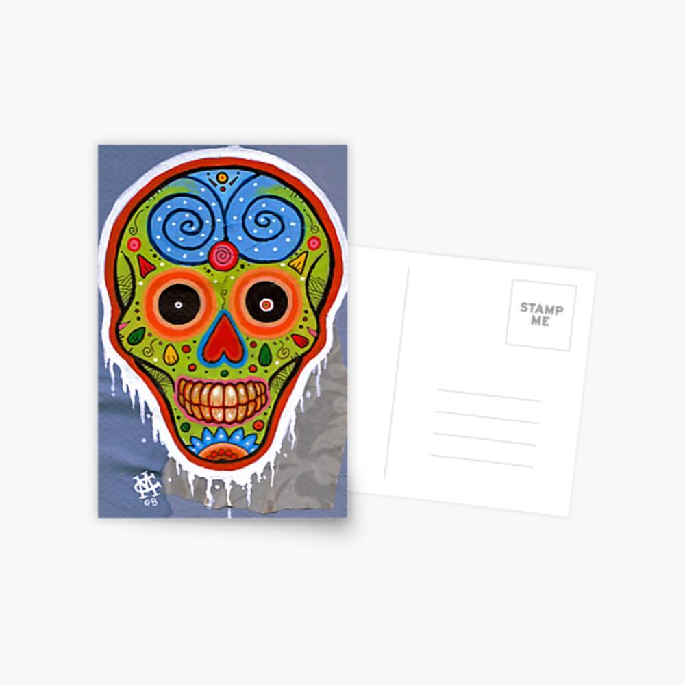 Sugar Skull Alpha Postcard