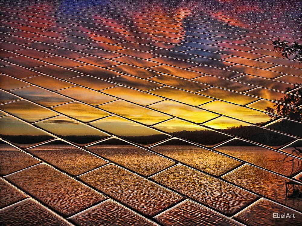Sunset On Brick by EbelArt