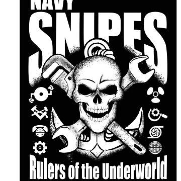 United States Navy Pit Snipes Design Sticker By Tshirtinked