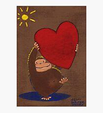 Ape Lifts Valentine Photographic Print