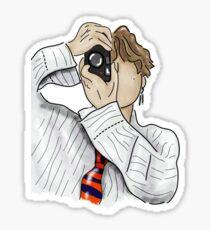 BTS V Taehyung (vante version 2) Fanart Poster and Sticker Sticker