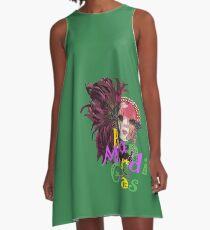 Bon Mardi Gras  A-Line Dress