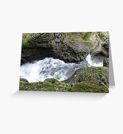 Behind the Waterfall of Love Greeting Card