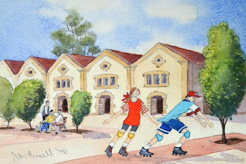 The rollerskaters by Jennifer Eurell