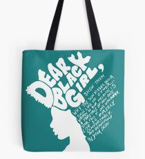 b24aa712ba Dear Black Girl (White Print) Tote Bag