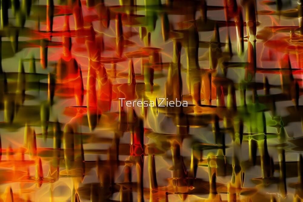 Craquelure Abstract by Teresa Zieba