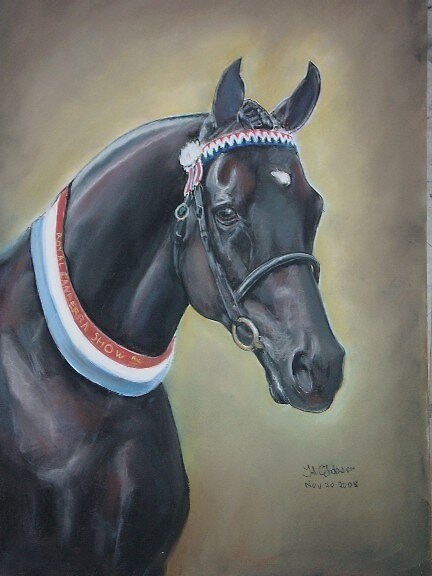 horse in pastels by uniqueartwork