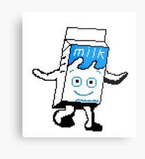Blur Milky carton pixel art Metal Print