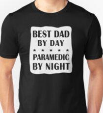 Paramedic Father Birthday - Best Dad, Night Shift Unisex T-Shirt