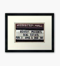 Webster Hall billboard in NYC Framed Print
