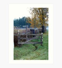 """ Fence Line"" Art Print"