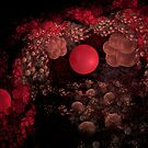 Red bubbles by Arie Koene