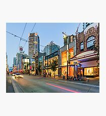 Streets Of Vancouver BC At Night Photographic Print