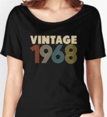 Camiseta ancha para mujer Vintage 1968