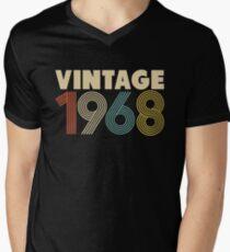 Jahrgang 1968 T-Shirt mit V-Ausschnitt für Männer