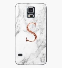 Monogram rose marble S Case/Skin for Samsung Galaxy