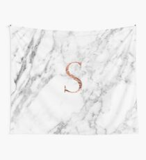 Monogram rose marble S Wall Tapestry