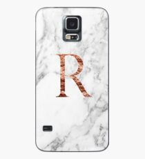 Monogram rose marble R Case/Skin for Samsung Galaxy