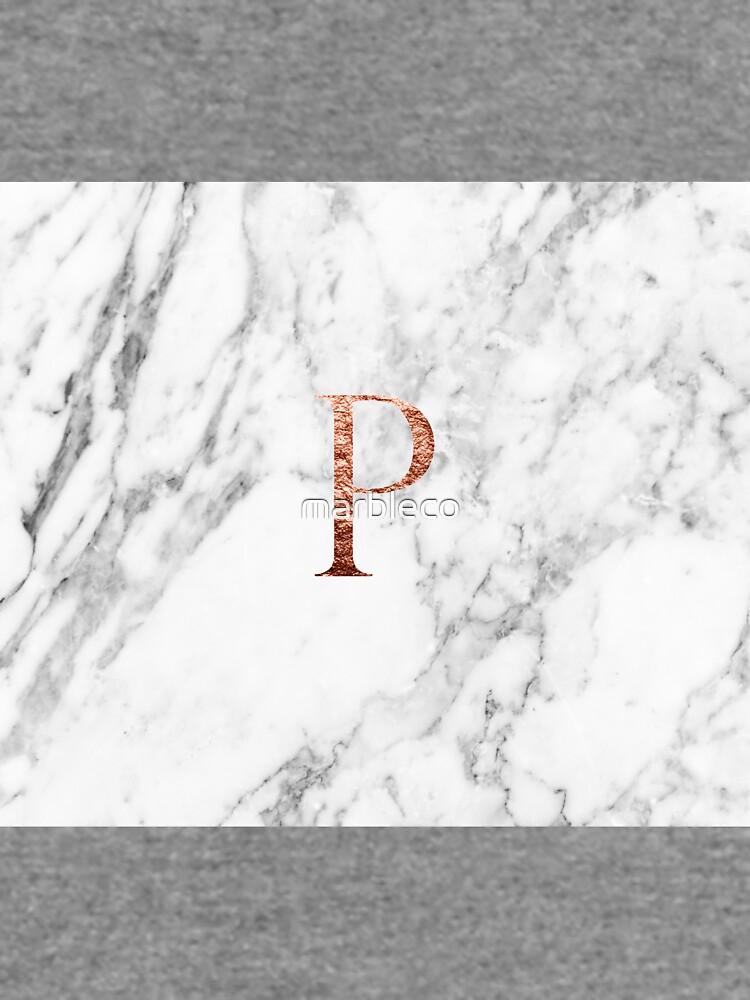 Monogramm rosafarbener Marmor P von marbleco