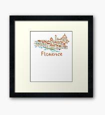 Florence Firenze Panorama Framed Print