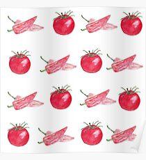 vegetables pattern Poster
