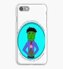 The Green Zombie: Borrow the Earth iPhone Case/Skin