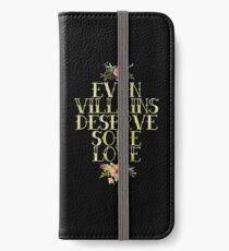 EVEN VILLAINS DESERVE SOME LOVE (GOLD) iPhone Wallet/Case/Skin