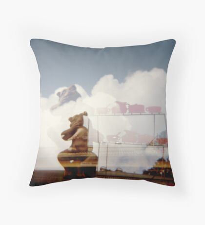Bear up there Throw Pillow