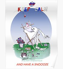 English Cricket Keep Calm and have a snoooze Poster