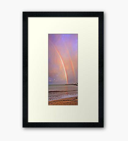 Rainbows Over Fremantle  Framed Print
