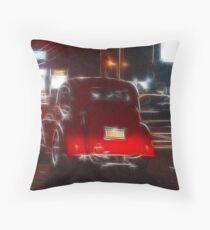 Saturday Night Cruiser Throw Pillow