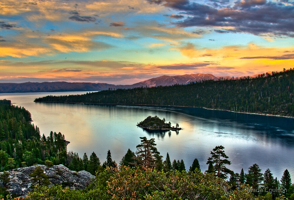 Sunset at Emerald Bay, Lake Tahoe by Maria Coulson