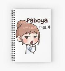 Cute korean girl - Silly sign Spiral Notebook