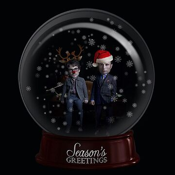 Hannigram Christmas Globe by spicywolfette