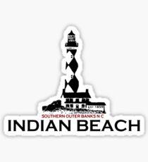 Indian Beach - Bogue Banks.  Sticker