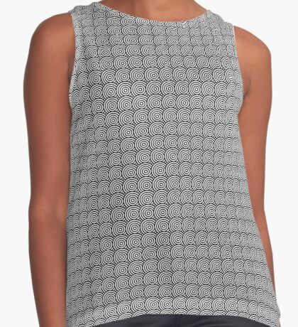 Offset Concentric Circles Pattern 002 Sleeveless Top