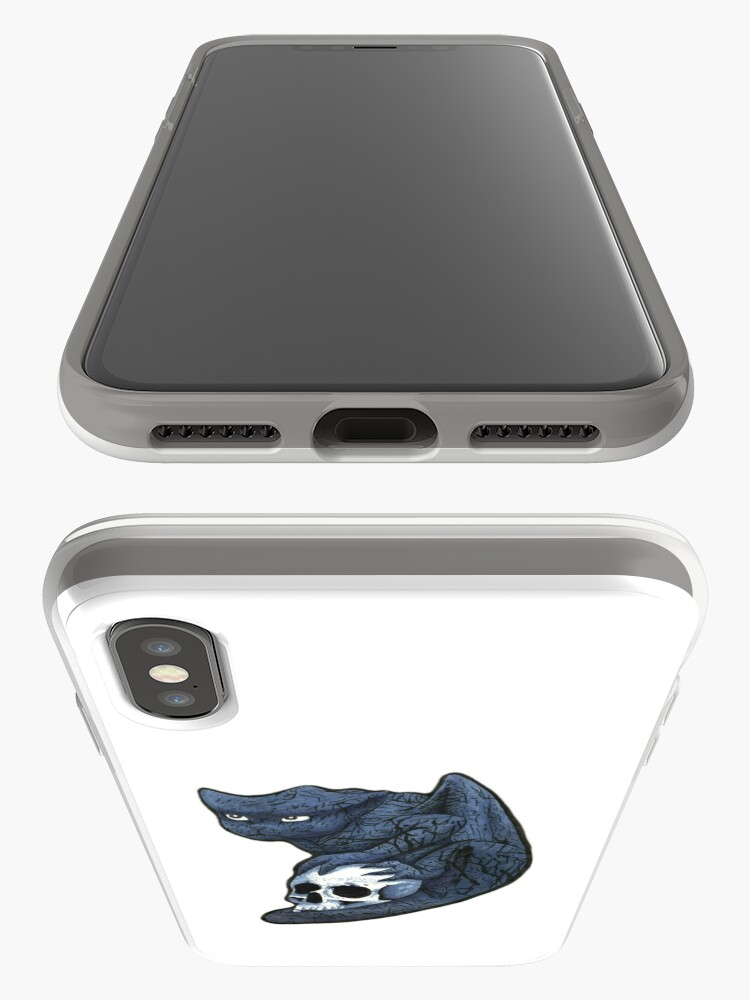 Alternate view of Gargoyle with Skull iPhone Case & Cover