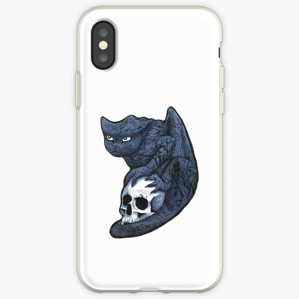 Gargoyle with Skull iPhone Case & Cover