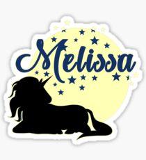 Melissa Surname First name Unicorn Sticker