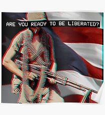 Prepare For Liberty - Vaporwave Poster