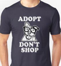 Adopt Don't Shop Pitbull Awareness Shirt Slim Fit T-Shirt