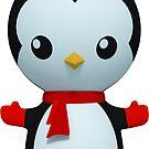 Penguin Hug by SpikeysStudio