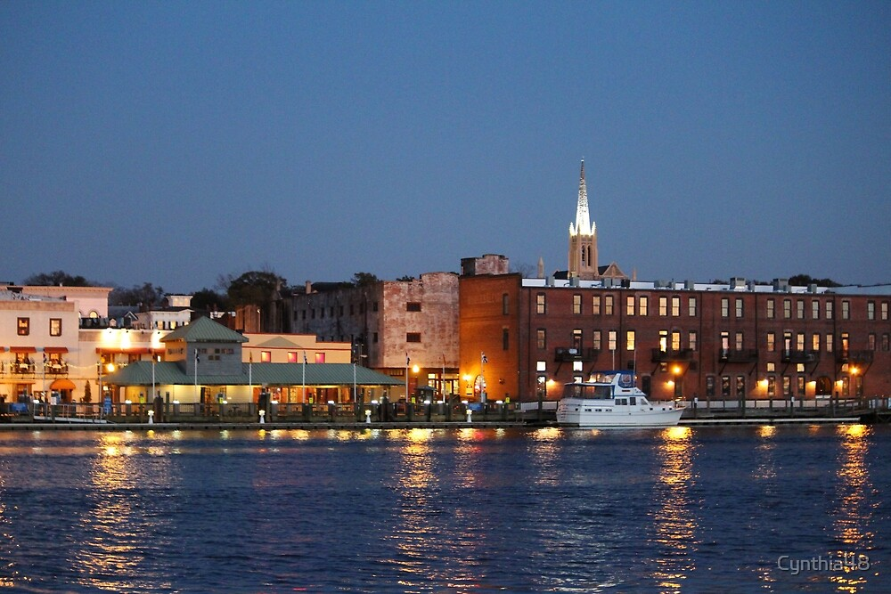Wilmington At Night by Cynthia48