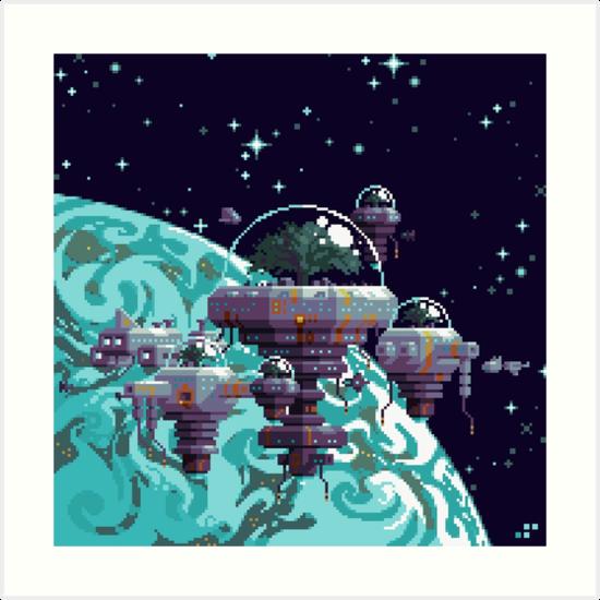 Biotopis: Orbital Colony by Slynyrd